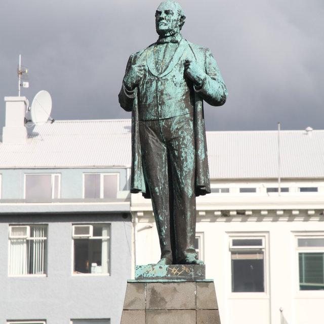Einar Jónssons statue of Jón Sigurðsson in Reykjavík.