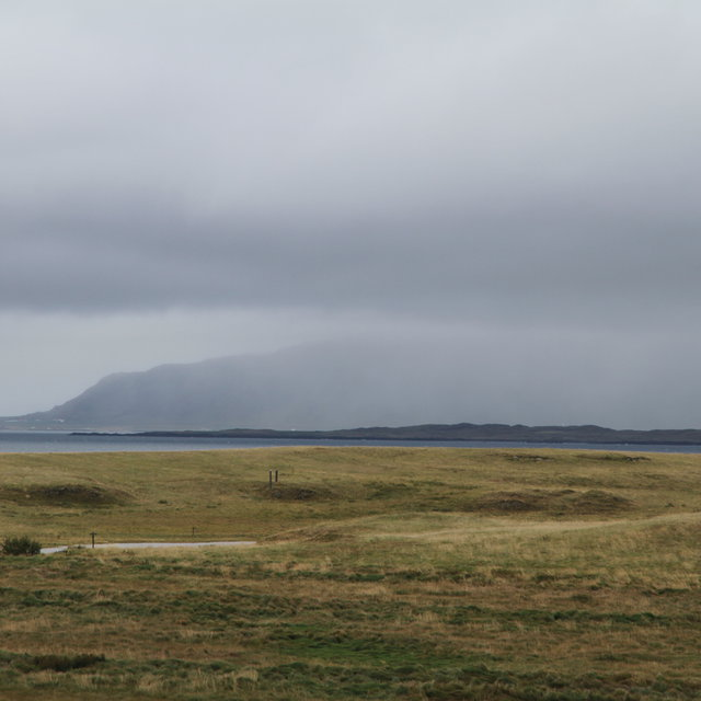 View from Viðey island towads the mountain Esjan.