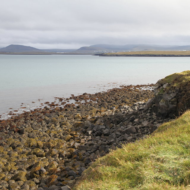 View to the east from the north end of Viðey.