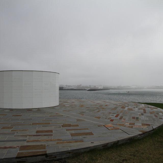 The Imagine Peace Tower by Yoko Ono on Viðey island.