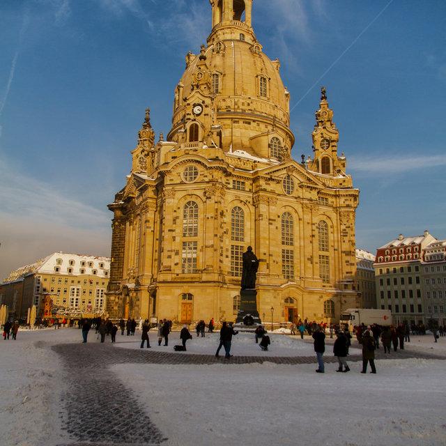 The Frauenkirche in Dresden.
