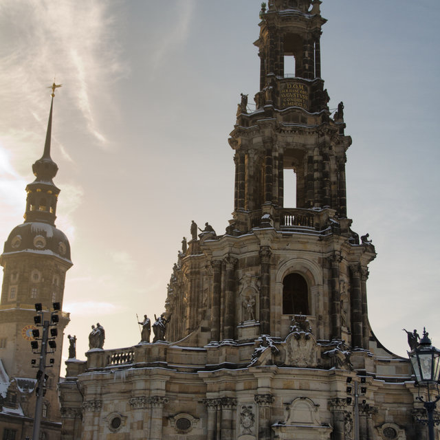 The Dresden Cathedral in winter.