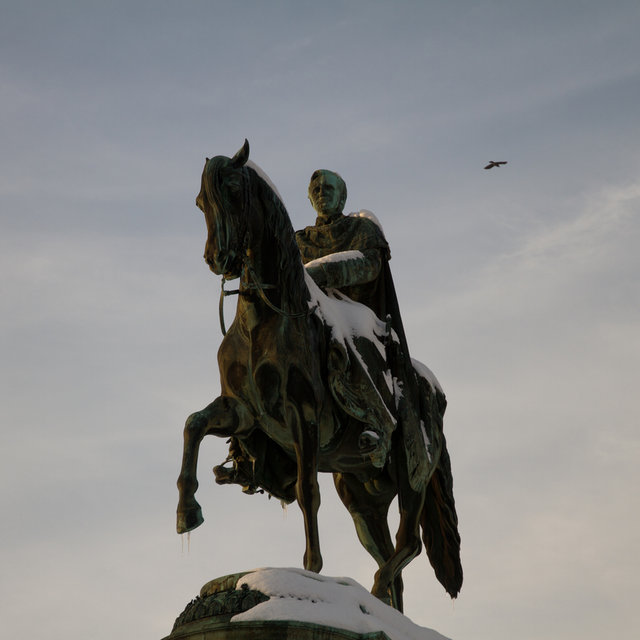 Statue of John of Saxony on the Theaterplatz in Dresden.
