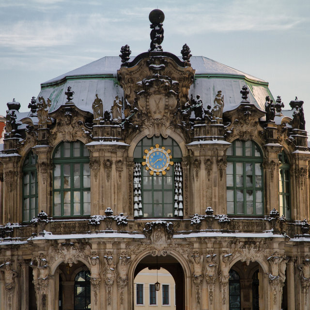 Ornamented gateway of the Dresden Zwinger.