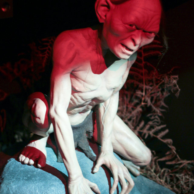 Wax figure of Gollum.