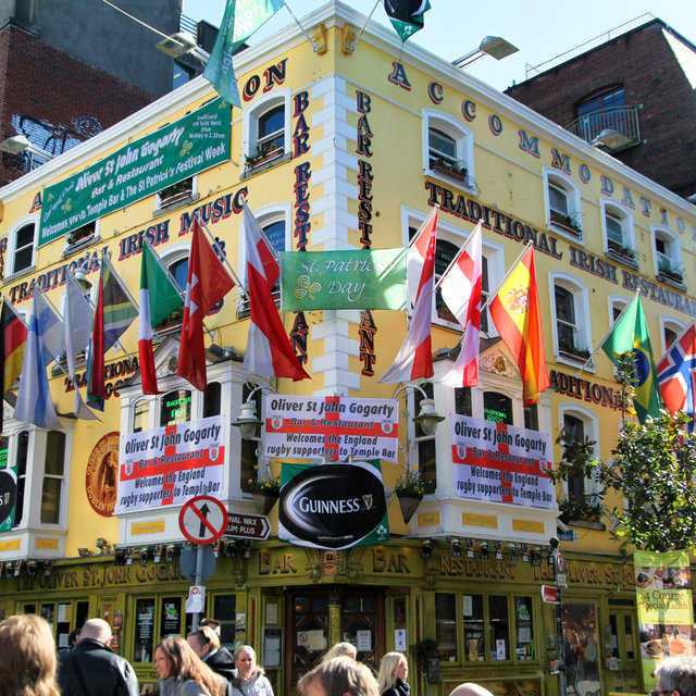 The Oliver St. John Gogarty pub in Temple Bar, Dublin.