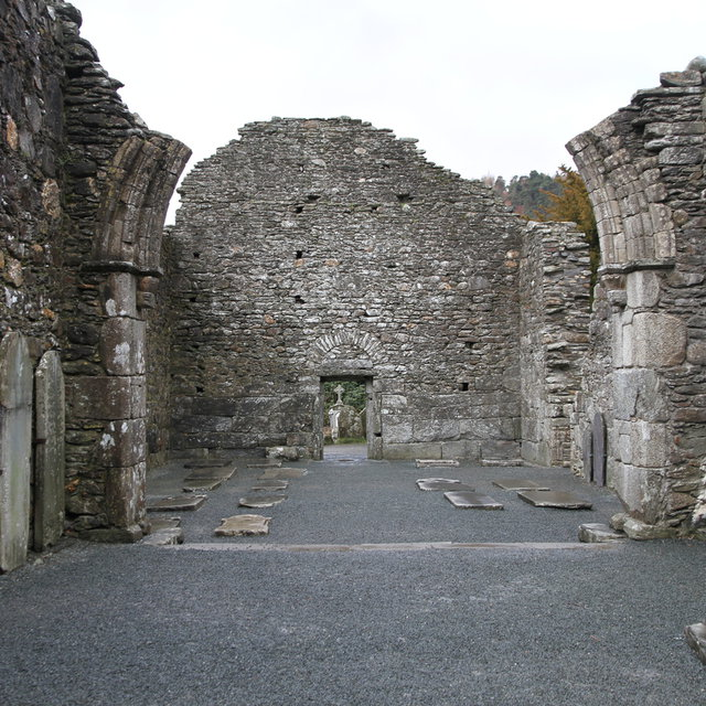 Monastery ruins at Glendalough.