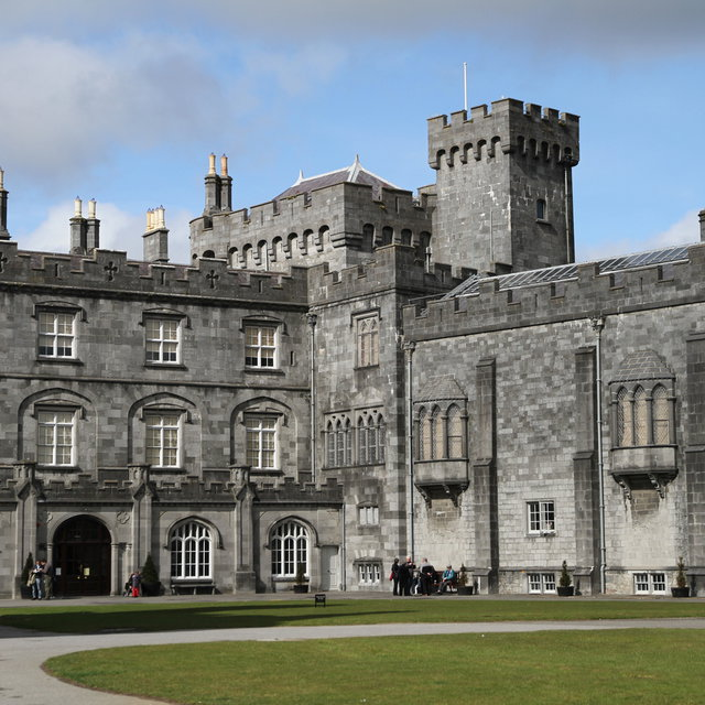 View of Kilkenny Castle from the courtyard.