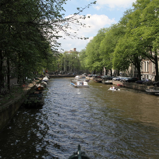 A Canal in Amsterdam.