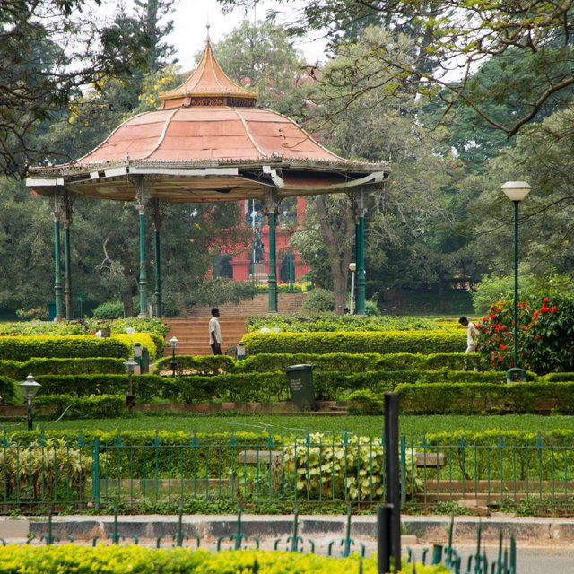 Pavilion in the gardens of the Karnataka High Court.