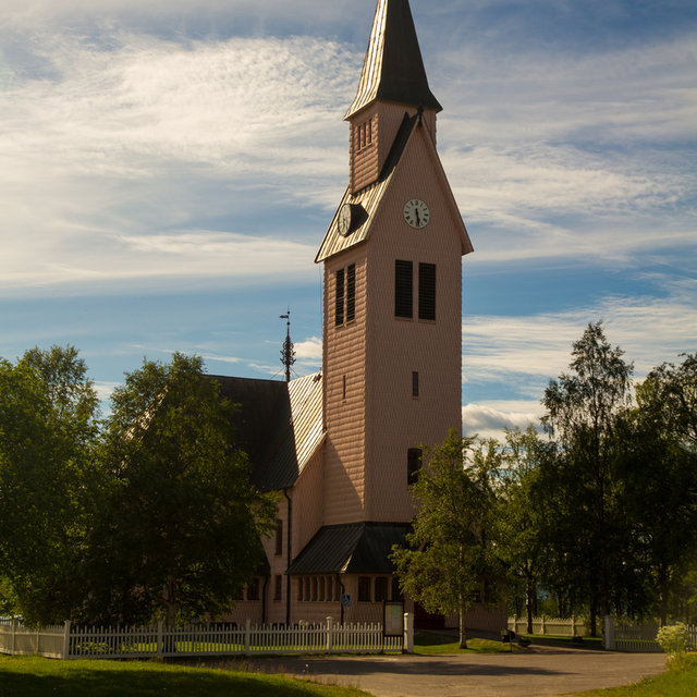 View of Arjeplog Church.