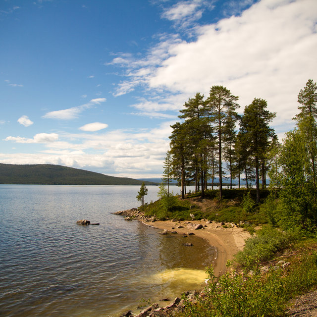 View over the shores of lake Skalka in Sweden.
