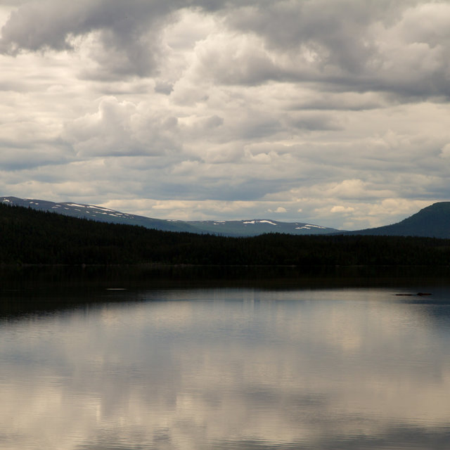 View over lake Saggat in Sweden.