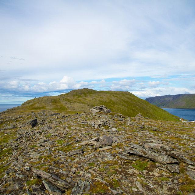 View of the hills near Skarsvåg.