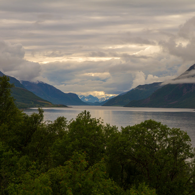 View over the Litle Altafjorden in Norway.