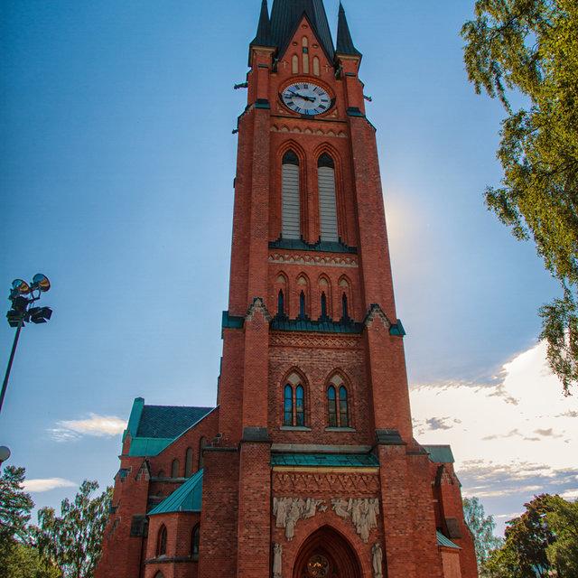 Gustav Adolf church in Sundsvall.