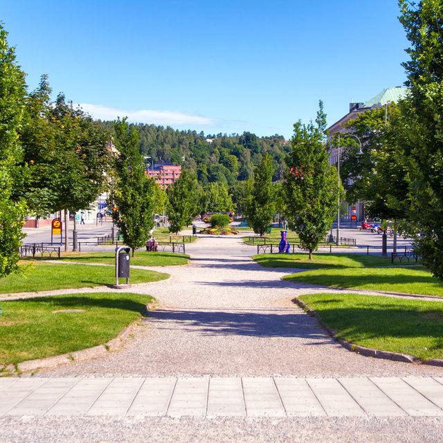 Esplanaden road in Sundsvall.