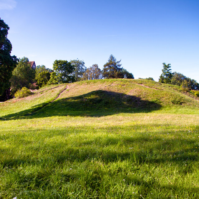 A burial mound in Gamla Uppsala.