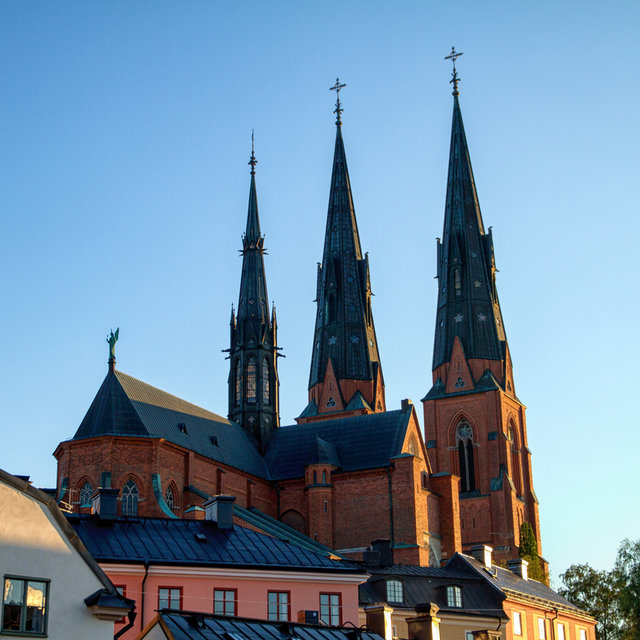 View of the cathedral in Uppsala.