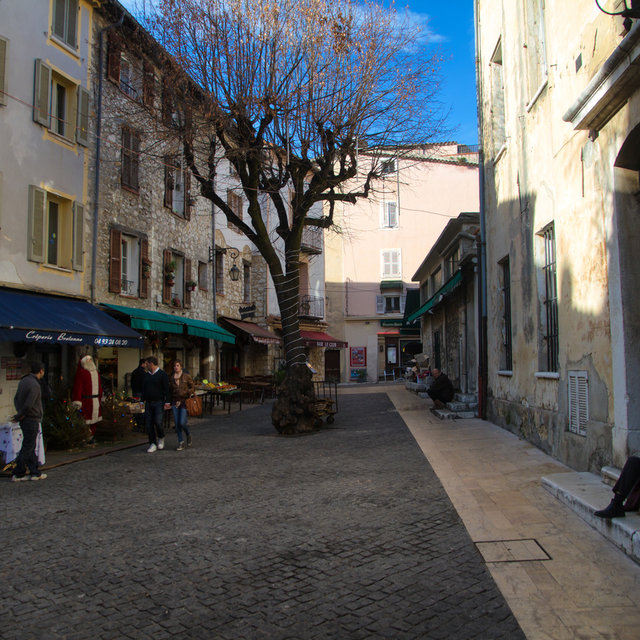 A little square in the old town of Vence.