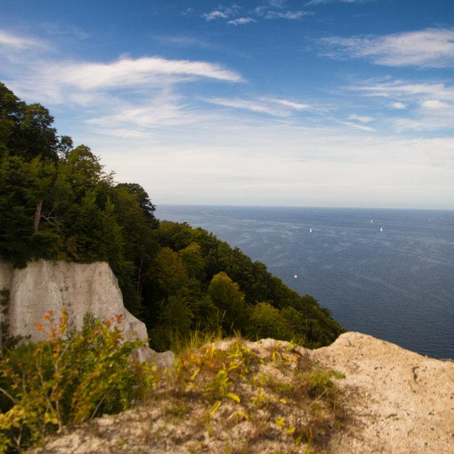 View of the Königsstuhl chalk cliff on Rügen.