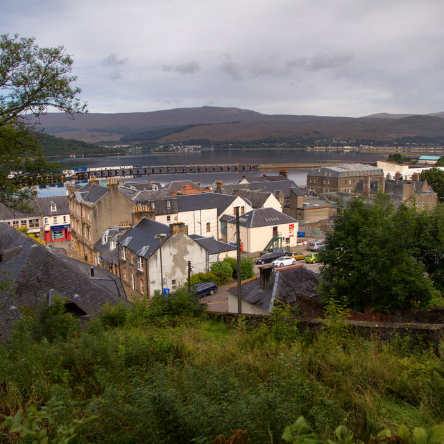 View over the roofs of Fort William.