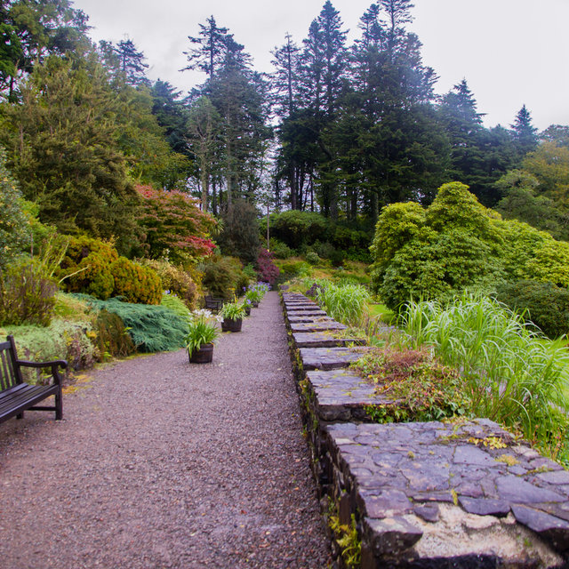 The gardens of Clan Donald Skye.