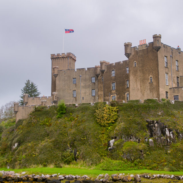 View of Dunvegan Castle on the Isle of Skye.