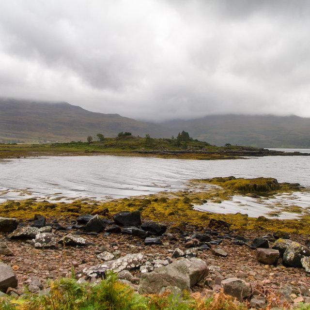 View along the shore of Upper Loch Torridon.