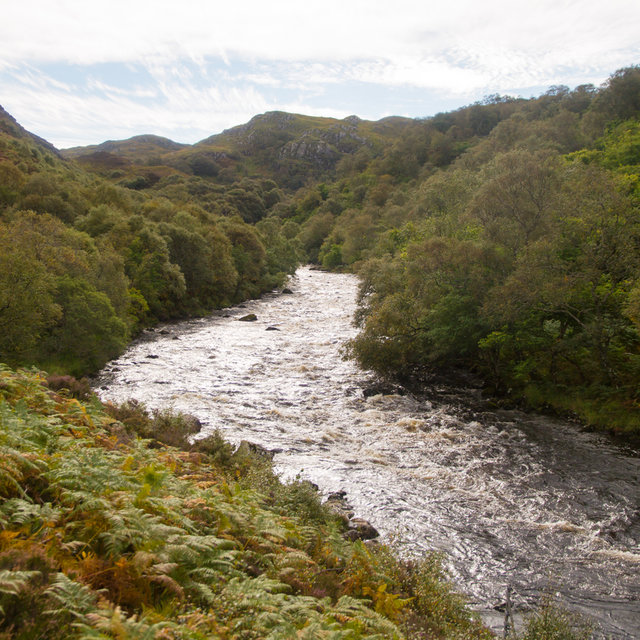River Kirkaig on the path towards Falls of Kirkaig.