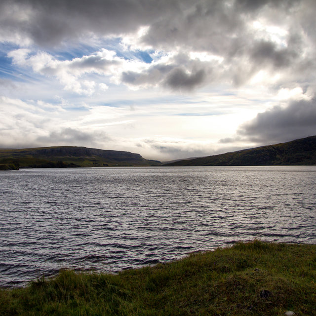 View from Ardvreck Castle onto Loch Assynt.