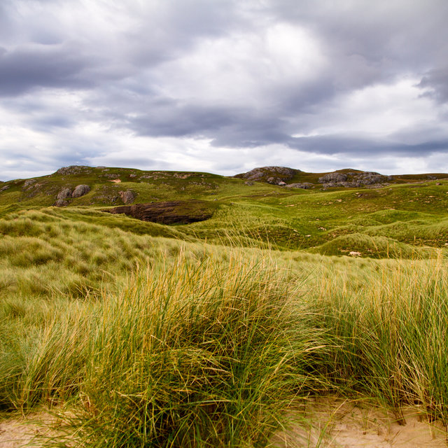 Dunes at Oldshoremore beach.