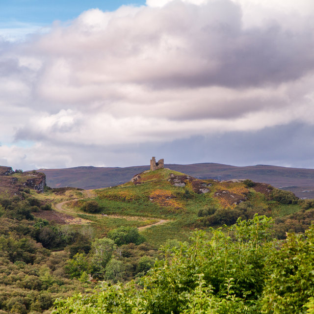 View from Tongue towards Castle Varrich.