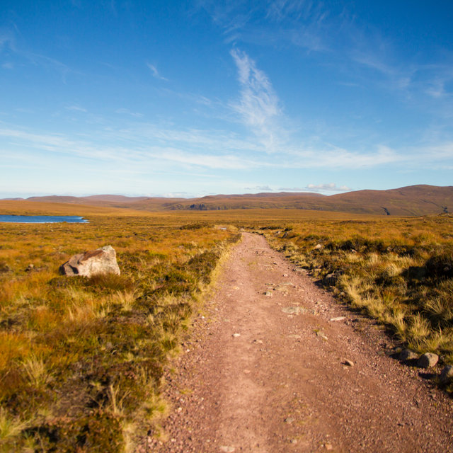 Path leading towards Sandwood Bay in Scotland.