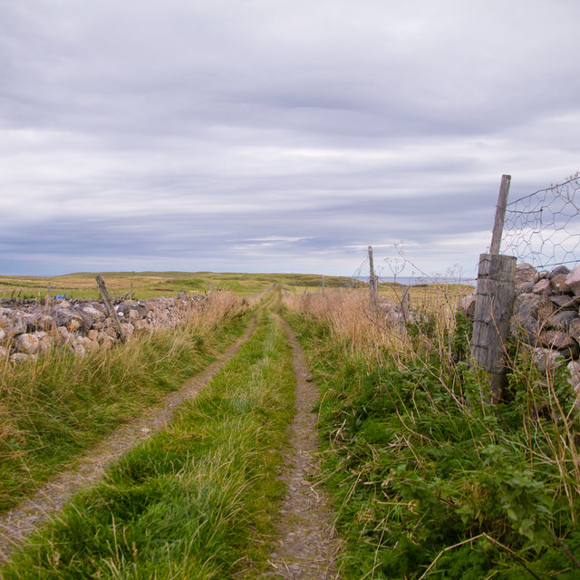 Old path leading from Durness to the coast.