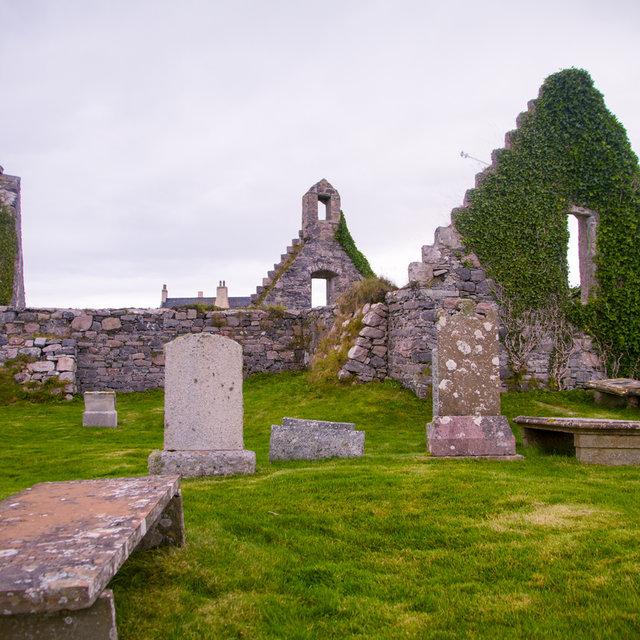 Ruins of a church and graveyard at Balnakeil.