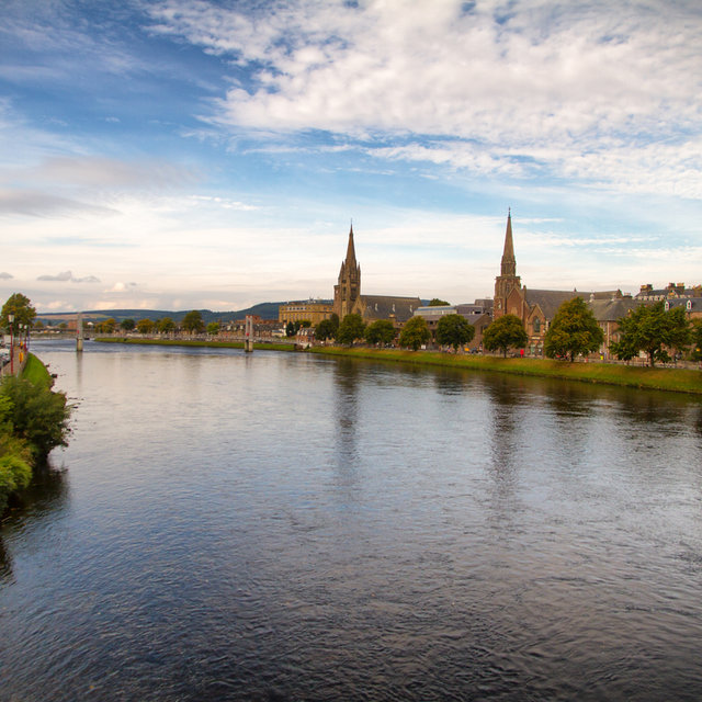 View looking north over the River Ness.