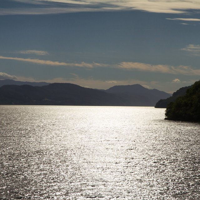 View from Urquhart Castle over Loch Ness.
