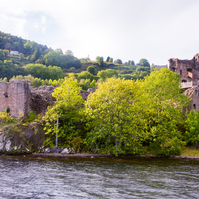 Close-up view of Urquhart Castle.