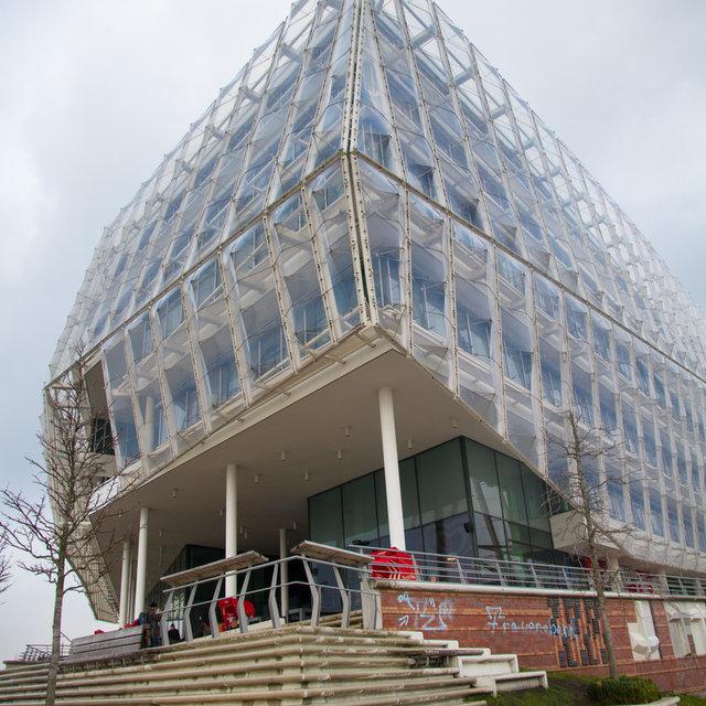 Modern architecture in the Hamburg HafenCity.