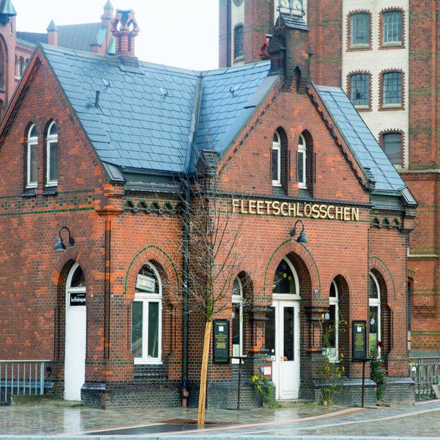 Fleetschlösschen in the Hamburg Speicherstadt.