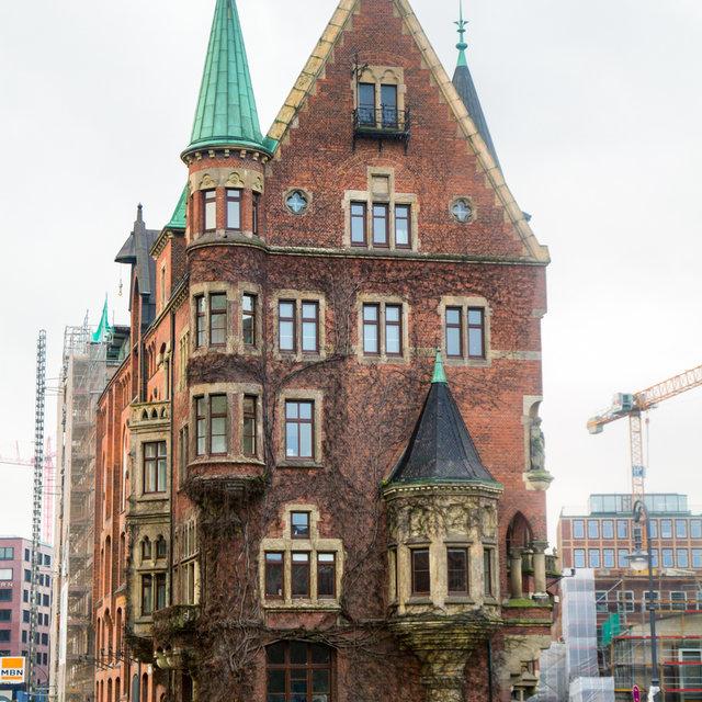 Old building in the Hamburg Speicherstadt.