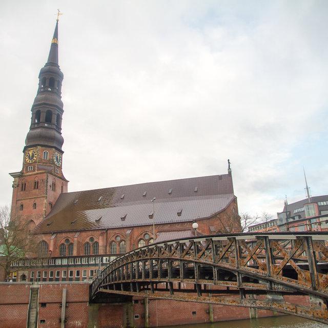 St. Catherine's Church in the Hamburg Speicherstadt.