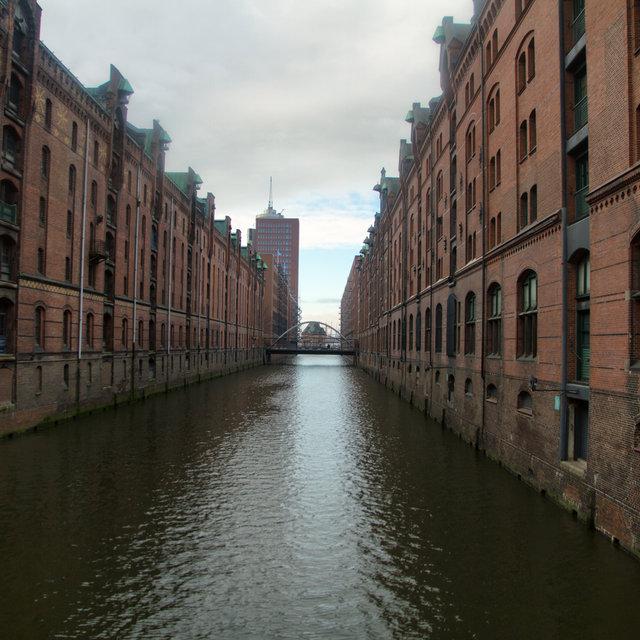Kehrwiederfleet in the Hamburg Speicherstadt.