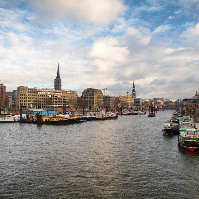 View over the Binnenhafen in Hamburg.