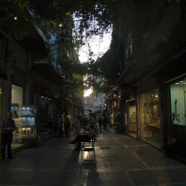Pedestrian street in Athens.