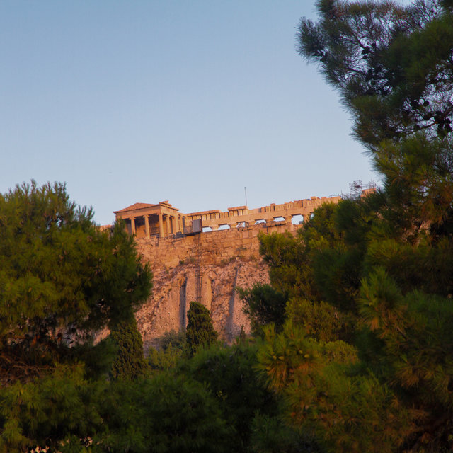 View of the Parthenon from the Stoa of Attalos.