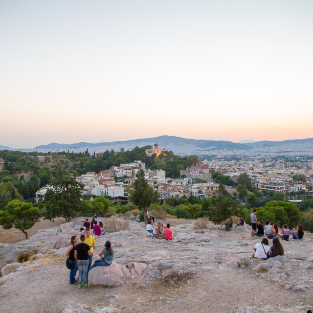 View from the Areopagus hill towards the