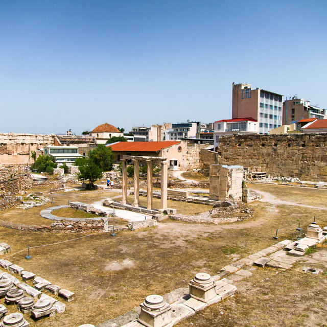 The ruins of Hadrian's Library in Athens.