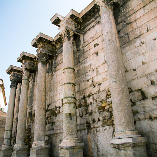 West wall of Hadrian's Library.